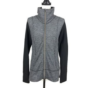 Lululemon Coco Pique Black Daily Yoga Zip Jacket